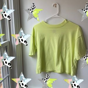 Wild Fable lime green boxy crop top